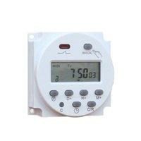 zamanlayıcı için lcd toptan satış-CN101A 12V 24V 110V 240V Dijital LCD Güç Zamanlayıcı Programlanabilir Zaman Anahtarı Çalar Saat Işık Timer Anahtarı Röle