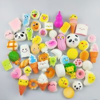 Wholesale 30pcs bag Kawaii Squishy Donut Soft Scented Squishies Cute Phone Straps Rainbow sweetmeats ice cream cake toys