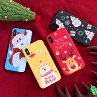 Wholesale g cases for sale – best For iphone X XS XR XS MAX Santa Claus Cases XSY G Matte Christmas Phone Cover Silicone TPU For iphone s Plus Fundas Coque