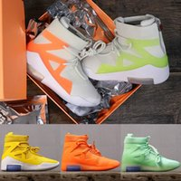 Wholesale design basketball boots online - Top Quality Air New Design Fear of God Mens Basketball Shoes FOG Boots Orange Green Black Sports Zoom Sneakers