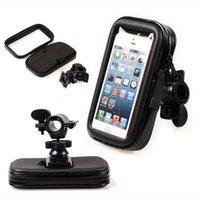 iphone bike bagaj çantası toptan satış-Siyah Dokunmatik Ekran Bisiklet Dağı Su Geçirmez Telefon GPS Durumda Bisiklet Bisiklet Gidon Tutucu Çanta iPhone Samsung Galaxy HTC için