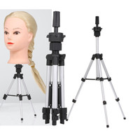 Adjustable Wig Stand Hairdressing Tripod Stand Training Mannequin Head Holder Clamp Hair Wig False Head Model Stands with Non-Slip Base