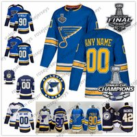 42 tasse großhandel-St. Louis Blues Stanley Cup-Meister 2019 Jersey 2 Al MacInnis 9 Doug Gilmour 11 Brian Sutter 16 Brett Hull 42 David Backes