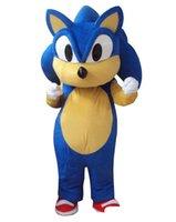 ingrosso mascotte blu stella-Vestito operato dal costume della mascotte di Sonic Hedgehog del professionista per l'evento blu animale del partito di Halloween dell'uccello