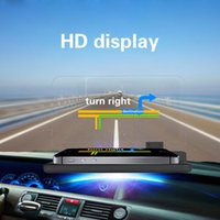 großes auto telefon großhandel-Freeshipping Universal Car HUD Navigationshalterung GPS Handyhalter Großbildschirm HD Reflexionsprojektor