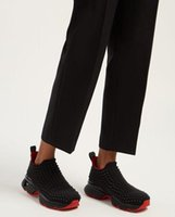 ingrosso tacchi alti uomini-Spike Sock Shoes Uomo Luxury Stretch-Sock Sneaker Donna Low Top Scarpe casual Classic Donna Red Bottom Chunky Flat Heel With Black White