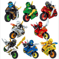 Wholesale build blocks resale online - 8 Style Phantom Ninja series Ninja puzzle assembled building blocks minifigures Children s Toys Puzzle Assembled Building Blocks kids
