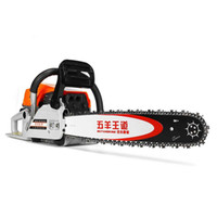 Wholesale chainsaws stroke resale online - 4KW Gas Gasoline Powered Chainsaw cc stroke Gasoline Chain Saw Wood Pruning Cutting