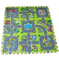 tapis de jeu en mousse souple achat en gros de-[TOP] 9pcs / set Ville Route Garden EVA puzzle mousse Jeu Tapis de sport Tapis de sol Tapis Doux Safe Crawling Tapis Pour Enfants jouet pour bébé