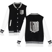 Wholesale attack titan wing for sale – custom Attack on Titan Mens Jacket Sports Styles Mens Baseball Clothes Wings of Liberty Homme Casual Tops