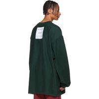çift yüzlü hoodies toptan satış-19FW Vetements Çift taraflı Giyim Uzun Kollu Katı Kazak Kazak Crewneck Moda Kazak Çift Sokak Hoodies T Shirt HFYMWY267