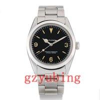 montres mécaniques vintage achat en gros de-Luxe 1965 Wristwatch ans Vintage 36mm Explorateur automatique en acier inoxydable 1016 mécanique Hommes Hommes Montres-bracelets Montres