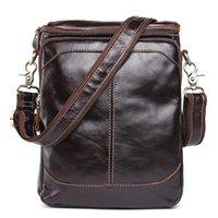 ingrosso borse piccole maschili-borse borse tracolla vera pelle da uomo borsa messenger per moda in pelle da uomo piccolo lembo maschio Crossbody Borse borse reale Leathe