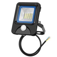 yüksek güçlü rgb spot ışığı toptan satış-Yeni disign benzersiz 10 W LED Sel Işık için Su Geçirmez Dusk Şafak PIR Hareket Sensörü Lambalar Serin Beyaz Bahçe Park Açık işık Güvenlik