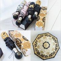 yağmur yağan şemsiye toptan satış-Marka Şemsiye baskı Güneşlik Medusa Logo Şemsiye Kadınlar Rüzgar Geçirmez Açık Ultraviyole Geçirmez Yağmur Fold 4 renkler MMA1696