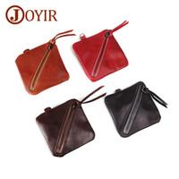 4f63627fcf174 Wholesale Soft Genuine Leather Coin Purses Women s Small Change Money Bags  Pocket Wallets Key Holder Case Mini Pouch Zipper Carteira Feminin