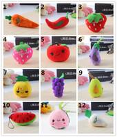 Wholesale plush fruit vegetable toys for sale - Group buy Multi styles emoji Vegetables Fruits plush keychain pendants Kids gifts sales promotion boy girls plush stuffed toys