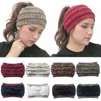 muñequeras de cachemira de invierno para las mujeres al por mayor-Winter Warm Earflaps Cap Hair Band Knitting Cachemira Diademas Sombreros Para mujer Deportes Sombrero cálido Mejores regalos
