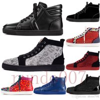 ingrosso scarpe inferiori rosse stivali donna-top 2019 fondo rosso scarpe gz 19ss calzino spike donna spikes bottoms sneakers uomo chaussures tacco mens donna low high boots designer