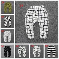 Wholesale boy pants denim harem resale online - Baby Boys Girls Leggings INS Kids Infants PP Pants Cartoon Animal Print Harem Trouser Leggings Colors