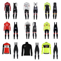 Wholesale cycling jersey tour france green for sale - Tour De France cycling jersey pro team mens winter thermal fleece cycling clothing set Ropa Ciclismo Invierno long sleeve cycling kit