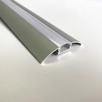 dolap örtüsü toptan satış-3.3ft / 1 metre led kabine bar hafif alüminyum konut, 12mm geniş kenar led alüminyum profil mat temizle kapak, tavan profili