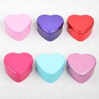 kalp şeklinde şeker teneke kutu toptan satış-Metal Kalp Şeklinde Şeker Kutusu Hediye Düğün Hediye Kutusu Düğün Dekorasyon Malzemeleri Şeker Teneke Ambalaj Çanta Parti Iyilik