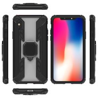 Wholesale iphone 7 plus car phone holder for sale – best Finger Ring Holder Magnetic Car Kickstand Hybrid Armor Phone Case For iPhone X XR Xs Max Plus Samsung S10 plus S10 A20 A30 A50 Note