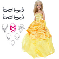 Wholesale fairy princess toys resale online - 11 Handmade Fairy Tale Doll Dress Copy Bella Princess Random x Necklaces x Glasses Clothes For Barbie Doll Toy