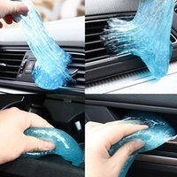 Wholesale auto keyboard resale online - Multifunction Soft Car Sticky Clean Glue Gum Gel Cleaning Auto Interior Outlet Keyboard Dust Cleaner Microfiber Sponge Gel