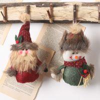 ingrosso bambole vestite da uomini-Albero di Natale appeso decorazioni ornamenti prodotto Doll Ciondolo Cartoon Old Man Puppet Dress Up Scena Ornamenti per la casa F92