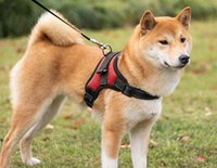 Wholesale harness vest for dogs resale online - New Design Outdoor Adjustable Dog Harnesses M Reflective Oxford Material Vest for Dogs Vest Small dogs Medium dogs Free Shopping