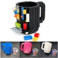 Wholesale white building blocks resale online - Building Blocks Mugs DIY Creative Drink Coffee Cup Men Women Children Personalized Decompression Water Cup Free Ship