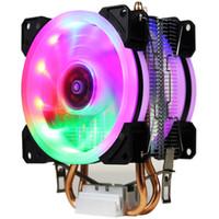 Wholesale amd am2 processors resale online - LANSHUO AMD Intel CPU Heat Sink Fan Processor Radiator Cooling Cooler Fan LGA X AM2 AM3 AM4 FM1 FM2