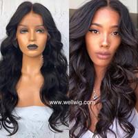 partie de style libre de cheveux brésiliens achat en gros de-Style tendance pour les Afro-Américains perruque de cheveux humains de vague de corps Les cheveux brésiliens peuvent faire la queue de cheval partie libre