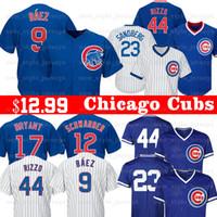 beyzbol kyle toptan satış-9 Javier Baez Erkekler Yavruları Chicago forması 12 Kyle Schwarber 24 Craig Kimbrel 5 Albert Almora JR 8 Andre Dawson Beyzbol Formaları