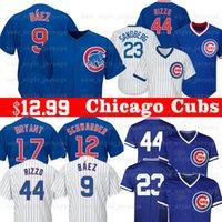 camisas de beisebol para homens venda por atacado-9 Javier Baez Men Cubs Camisola de Chicago 12 Kyle Schwarber 24 Craig Kimbrel 5 Camisolas de Basebol de Albert Almora JR 8 Andre Dawson