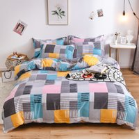 Wholesale boys queen size bedding set for sale - Group buy Geometric Printed Girl Boy Kid Bed Cover Set Duvet Cover King Queen Size Bed Sheets Pillowcases Comforter Bedding Set