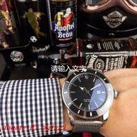 ingrosso cinture orologi da uomo-orologio orologio da uomo meccanico automatico di lusso completo Cintura in maglia comfort in acciaio inox 5 Puntatore impermeabile impermeabile ATM Montre de luxe