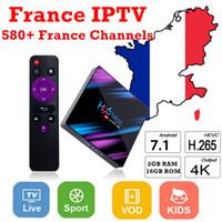 receptor de satélite wifi youtube al por mayor-H96Max France IPTV Smarters IPTV francés gratis con más de 560 canales France Iptv Canales de TV en vivo gratis Cuenta de TV IP y EPG VOD gratis