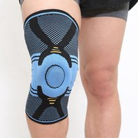 Wholesale basketball support gear for sale - Group buy Basketball Knee Brace Compression knee Support Sleeve Injury Recovery Fitness sport safety sport protection gear knee pads LJJZ509
