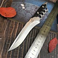 kurtarma bıçakları toptan satış-Paslanmaz Çelik Taktik Bıçak Soğuk Çelik Sabit Bıçak Bıçak Survival Kurtarma Araçları Avcılık Bıçaklar Korozyon Direnci Avcılık Savaş Açık
