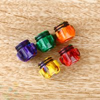 Wholesale Newest Thread Epoxy Resin Wide Bore Drip Tip Mouthpiece Vape DripTips for TFV12 Prince TFV8 Big Baby Atomizer DHL Free