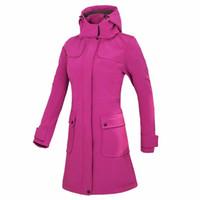 yağmur ceketi kadın toptan satış-Yeni Kadın Kuzey Su Geçirmez Softshell Ceket Kadınlar uzun Rüzgarlık Kamp Yürüyüş Balıkçılık Açık Yağmur Ceket Softshell Ceket Kadın