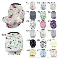 bébé extensible achat en gros de-Couverture de l'allaitement maternel pour bébé, 19 styles, siège d'auto pour bébé, siège d'enfant, couverture de siège de poussette extensible