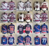 jersey phil esposito venda por atacado-17 Dubinsky Rangers 99 Wayne Gretzky 68 Jaromir Jagr Jersey Nova York Vintage 75th 77 Phil Esposito 36 Mats Zuccarello 61 Rick Nash