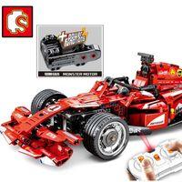 f1 araba oyuncakları toptan satış-DHL 701.000 585Pcs teknik F1 yarış arabası Uyumlu Moc legoinglys Uzaktan Kumanda RC Elektrikli hız model yapı taşları oyuncak