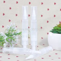 ingrosso penne lucide vuote-20pcs 30pcs 50pcs penna vuota per olio per unghie con applicatore per pennelli Portable Beauty Clear Cosmetic Lip Gloss Nail Nutrition Oil Pen 4ml