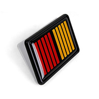 Wholesale motor car parts resale online - 3D Car Sticker Motor Parts Car Decoration Wrap Sticker Grid Styling Accessories for Ralliart
