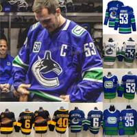 eishockey-patches groihandel-Mens 53 Bo Horvat mit C-Patch Jersey Vancouver Canucks Alexander Mogilny Thatcher Demko Brock Boeser Elias Pettersson Eishockey Trikots